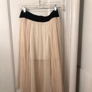 Free People Cream Midi Skirt size small